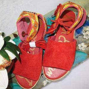 *NEW*  Sam Edelman SHAE ESPADRILLE Sandals US 5M